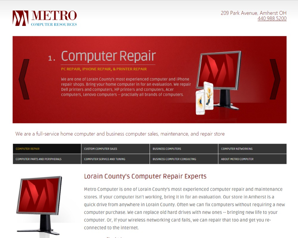 Computer Sales and Repair in Lorain County: Metro Computer Resources
